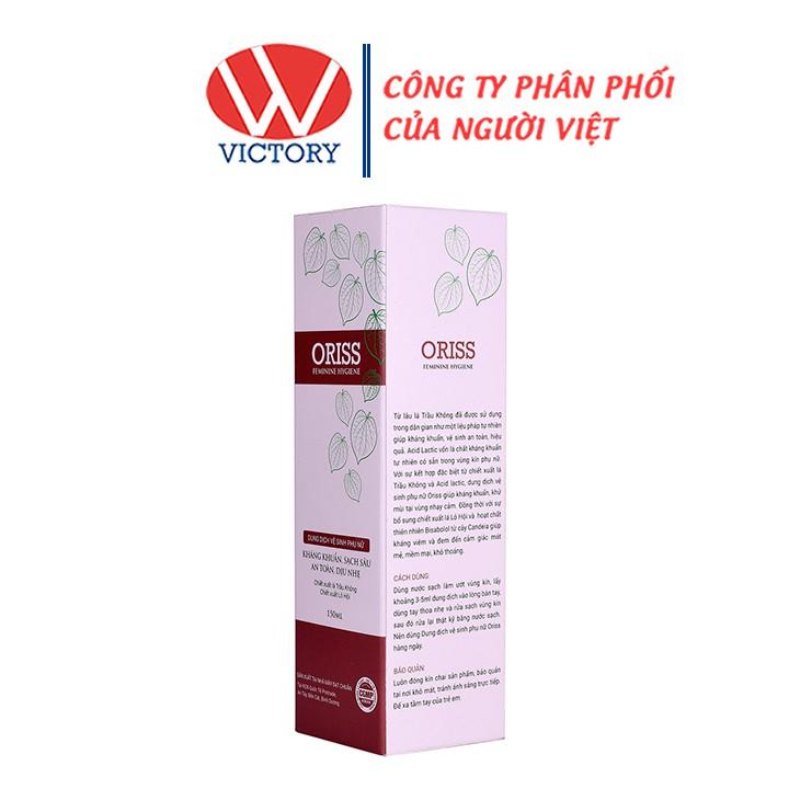 Dung dịch vệ sinh phụ nữ ORISS - Giúp kháng khuẩn, khử mùi, giảm kích ứng - Chai 150ml - VictoryPharmacy