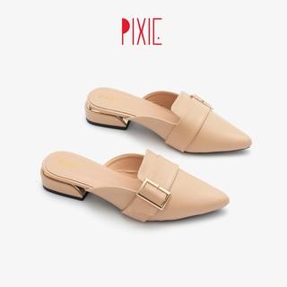 Dép Sục Bít Mũi Pixie P170 Màu Kem
