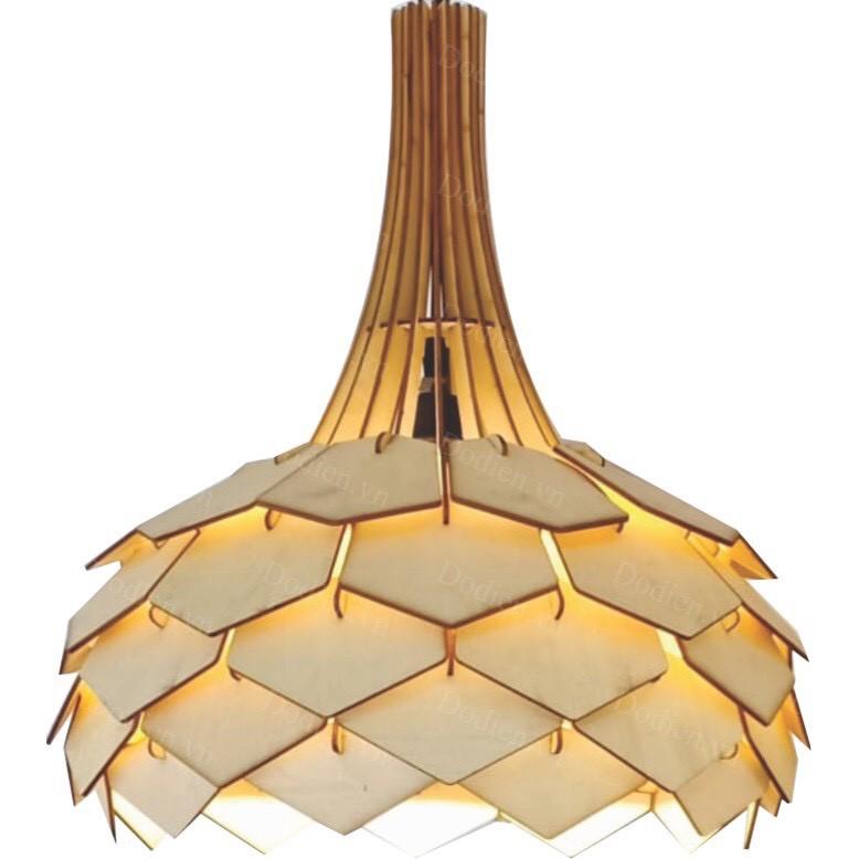 Đèn gỗ trang trí độc đáo mẫu hoa lài