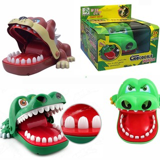 🎁Funny Cartoon Crocodile Bulldog Mouth Dentist Bite Finger Toy Family Game