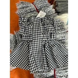 set áo kẻ cúp ngực thời trang - quần sooc xoè tôn dáng thumbnail