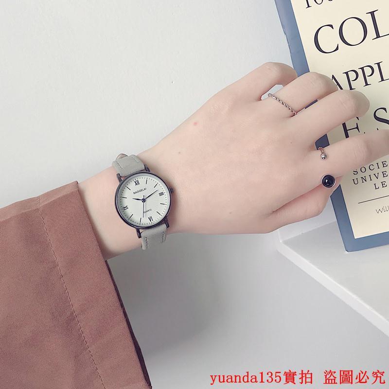 đồng hồ nữ dây da mặt tròn thời trang