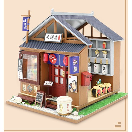 bộ đồ chơi lắp ráp mô hình nhà búp bê nhật bản