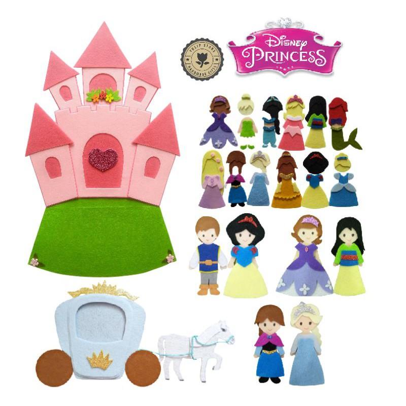Đồ chơi Sách vải Lâu Đài 12 Công chúa Disney (Hình thật 100%) – Sách vải cho bé gái – Búp bê Walt Disney