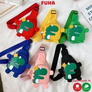 Túi đeo chéo trẻ em in hình khủng long FUHA, túi đeo phong cách Hàn Quốc thời trang siêu xinh