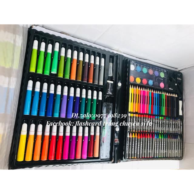 Bộ hộp màu LOẠI TO 150 chi tiết cho bé tô vẽ thỏa thích