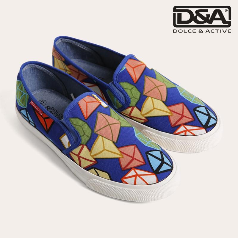 D&A giày slipon nữ thời trang L1502 hoa kim cương