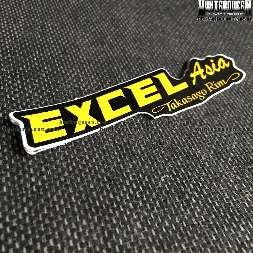 EXCEL[11.6x3cm] decal cao cấp chống nước, sắc nét, bền màu, dính chặt. Hình dán logo trang trí mọi nơi, in theo yêu cầu