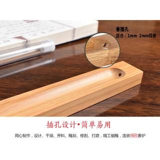 Đế cắm nhang gỗ tre tự nhiên - hình 3