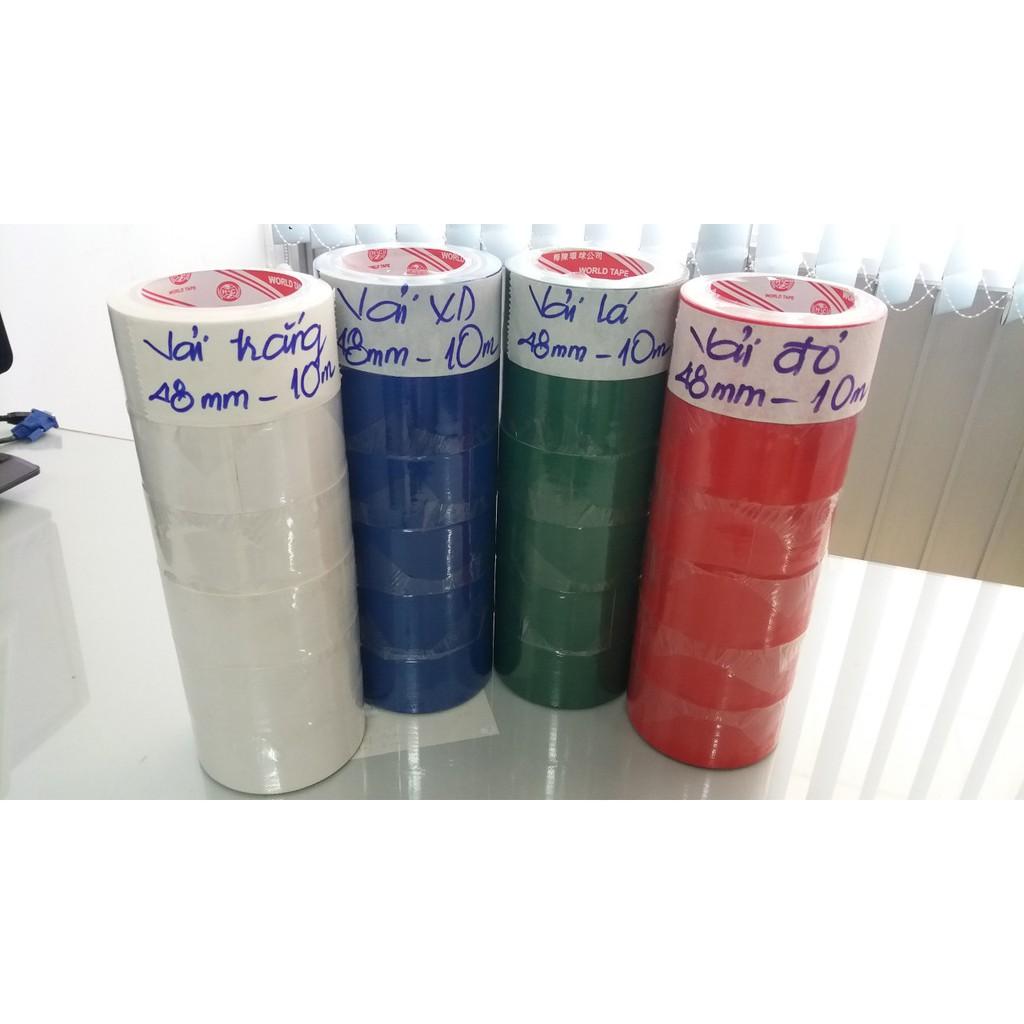 Băng keo vải đỏ 48mm - 14Y - combo 6 cuộn 1 cây