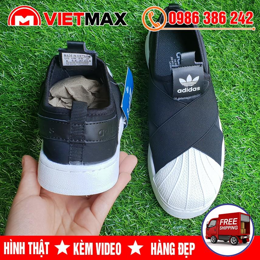 🔥 [HOT] Giày Sneaker SuperStar Slip On Đen Trắng Hàng Sale