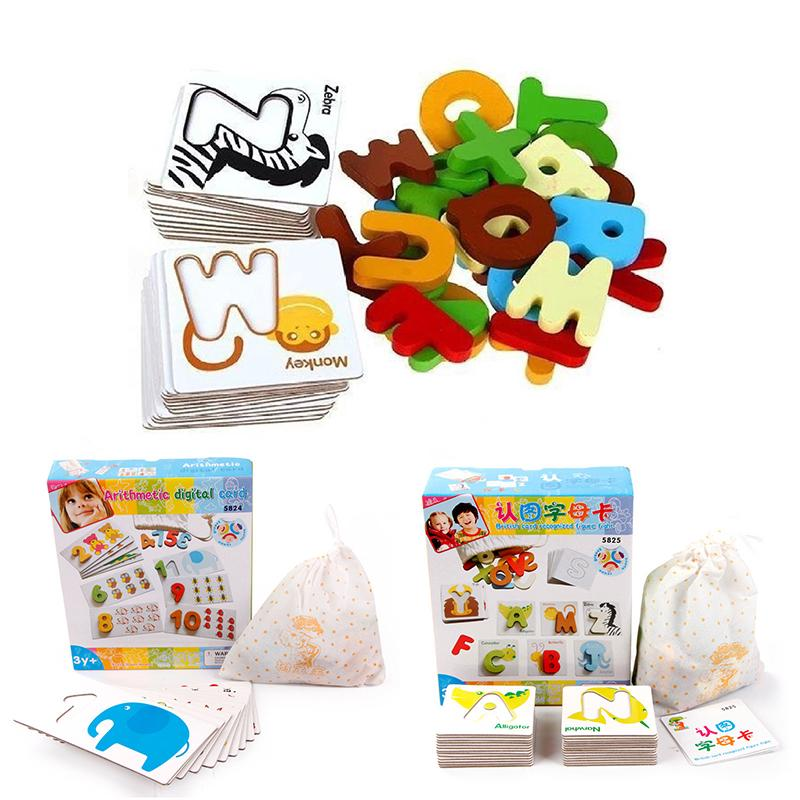 Children Kids Educational Block Toy Letter/Figure Animal Puzzle Toy Gift