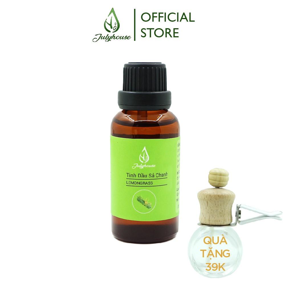 Tinh dầu Sả Chanh thơm phòng, xua muỗi JULYHOUSE 30ml. Tặng kèm Vỏ khuếch tán