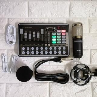 [Mã ELMS3TR giảm 7% đơn 2TR] [ TẶNG DÂY LIVESTREAMS ] Combo sound card H9 bluetooth với mic thu âm BM900