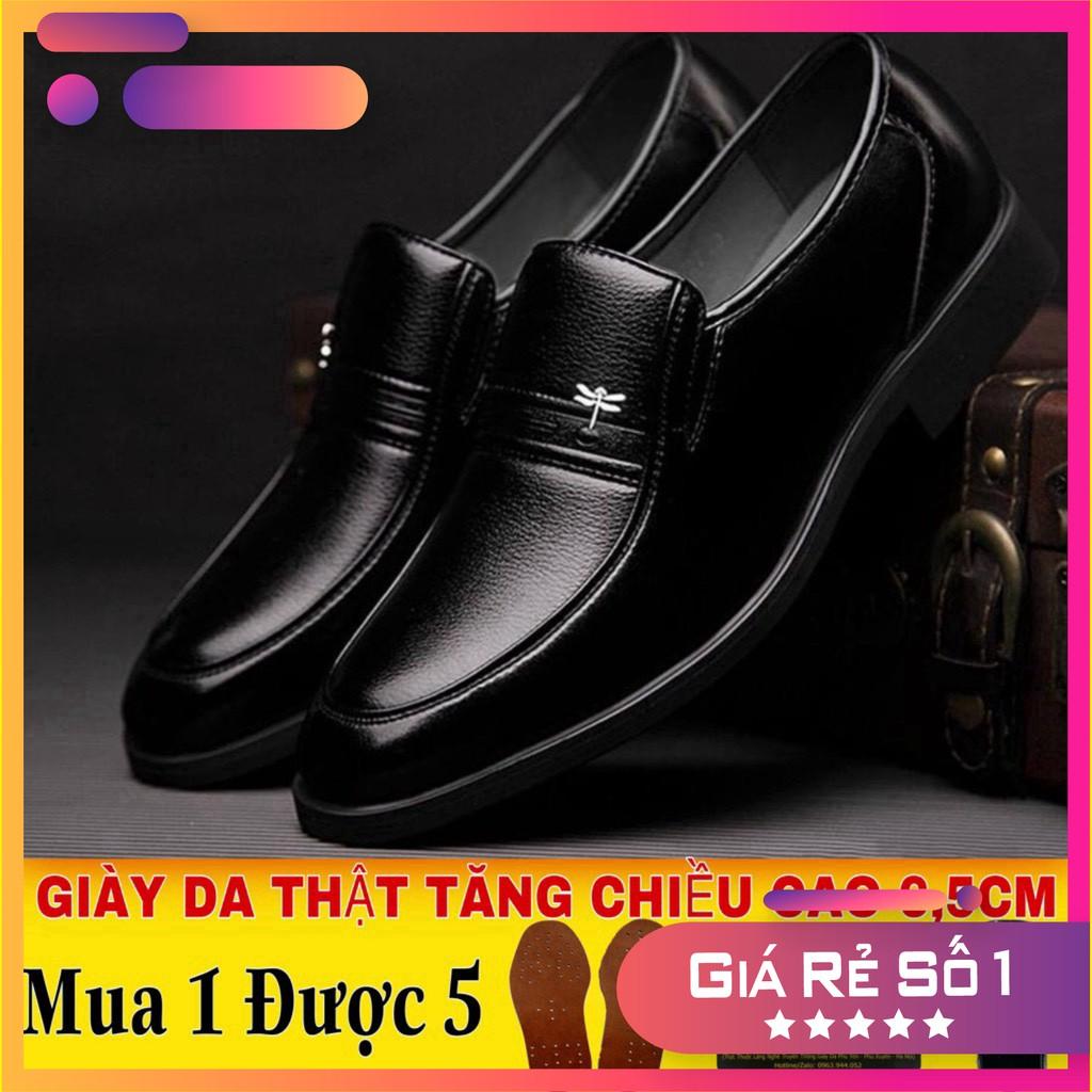 Giày Tây Nam Tăng Chiều Cao GC332 - Chất Liệu Da Bò Nhập Khẩu Nguyên Tấm - Đế Cao Su Khâu Chắc Chắn-Phong Cách Lịch Lãm