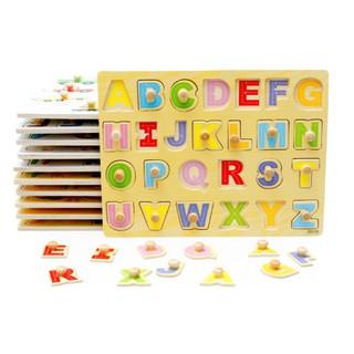 [Nhập mã TOY11FES10 giảm 10%][FREESHIP TỪ 99K]Bảng ghép hình chữ cái tiếng Anh có núm cho bé