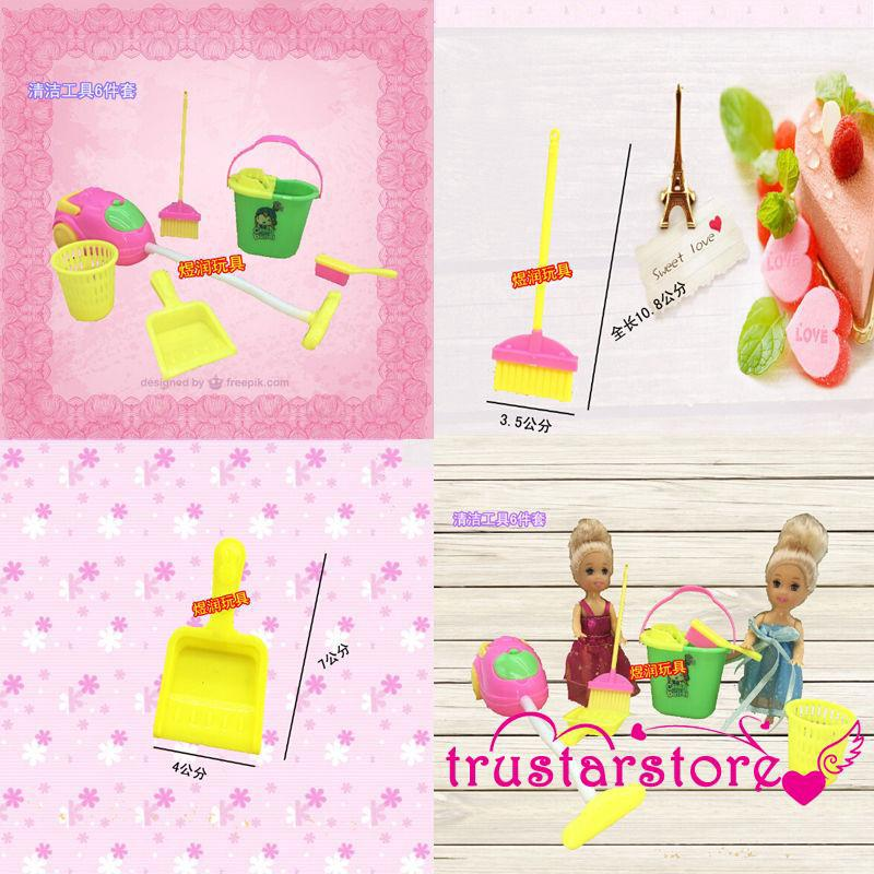 ✦ZWQ-Home Furniture Furnishing Cleaner Cleaning Toys For Barbie Doll House
