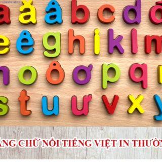 Bảng Chữ Nổi Tiếng Việt In Thường Hàng Việt Nam Cho Bé