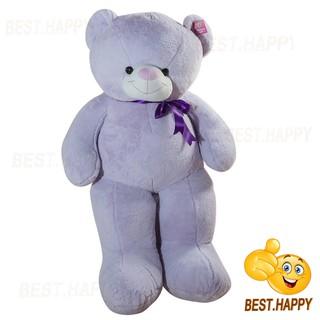 Gấu teddy lông bột màu tím