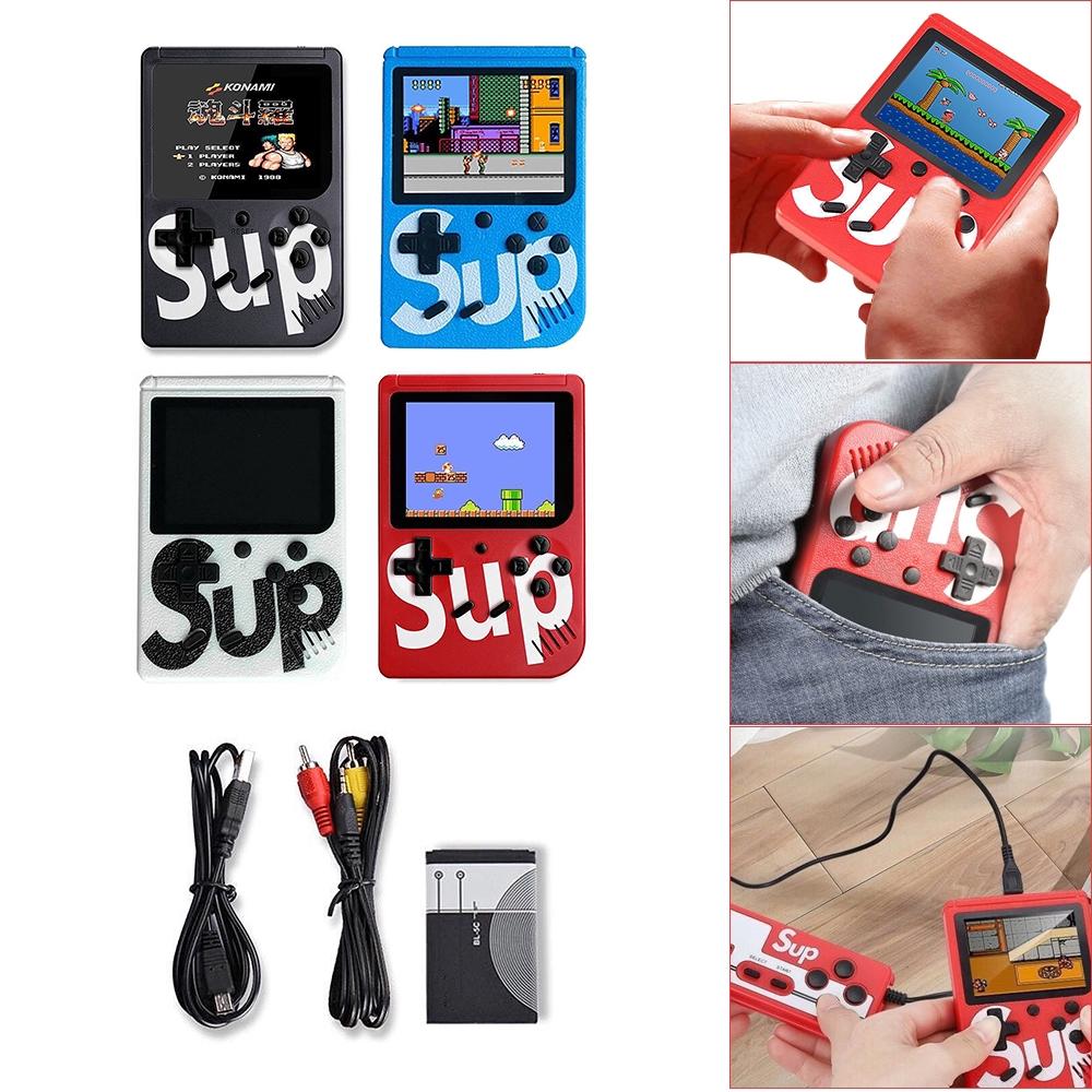 Máy chơi game cầm tay mini cổ điển gồm 400 trò chơi có dây nối với TV