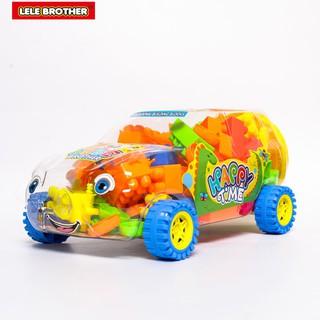 Đồ chơi Lắp Ráp Xe Du Lịch Gia Đình Lớn Happy Time Racing Car Lele Brother (3112-6)