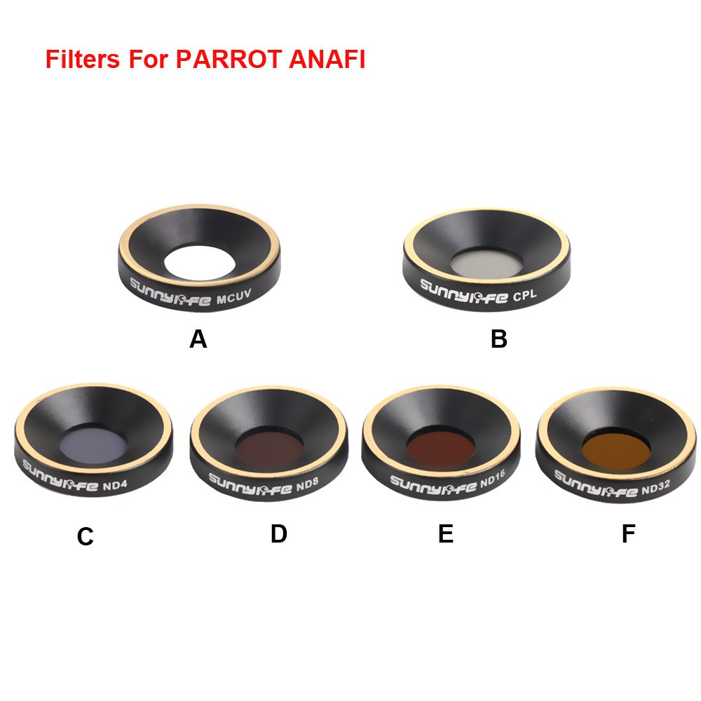 Set kính lọc ND4 ND8 ND16 nd32 CPL mcuv cao cấp cho máy ảnh ủa drone Parrot anafi