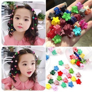 Túi 10 kẹp tóc càng cua mini mix nhiều màu xinh xắn dễ thương phong cách Hàn Quốc cho bé yêu