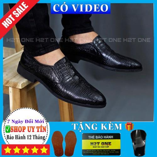Giày da nam 💖 DA BÒ THẬT 💖 Giày tây công sở nam cao cấp phong cách trẻ trung lịch lãm GH0170