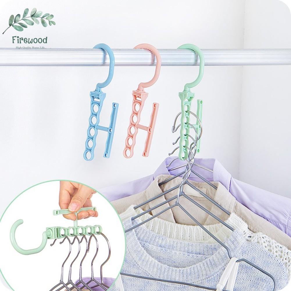 Móc áo nhựa nhiều tầng chống trượt tiện lợi cho gia đình