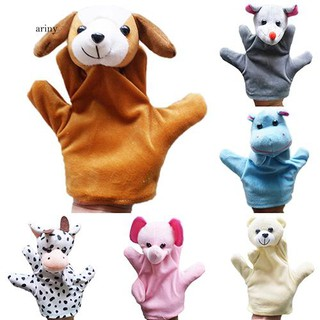 ♞Delicate Baby Child Zoo Farm Animal Hand Glove Puppet Finger Sack Plush Toy