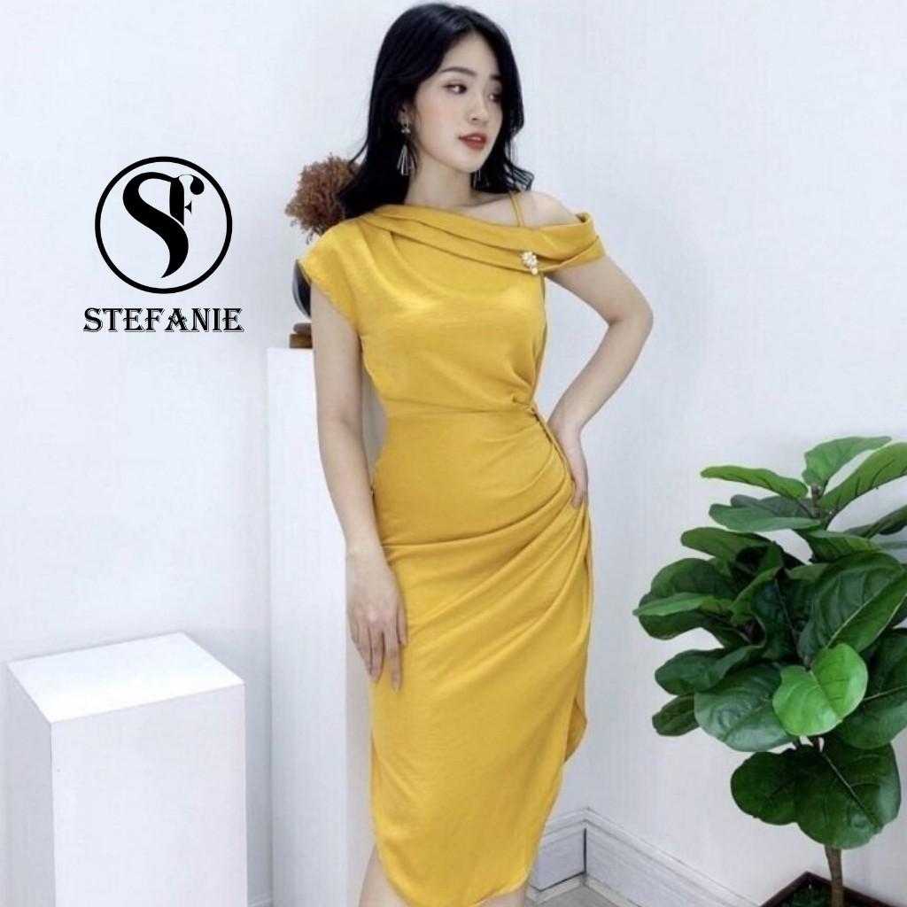 Đầm Dự Tiệc - Váy Body Trễ Vai Tôn Dáng - Che Bụng Cho Chị Em Phụ Nữ Stefanie