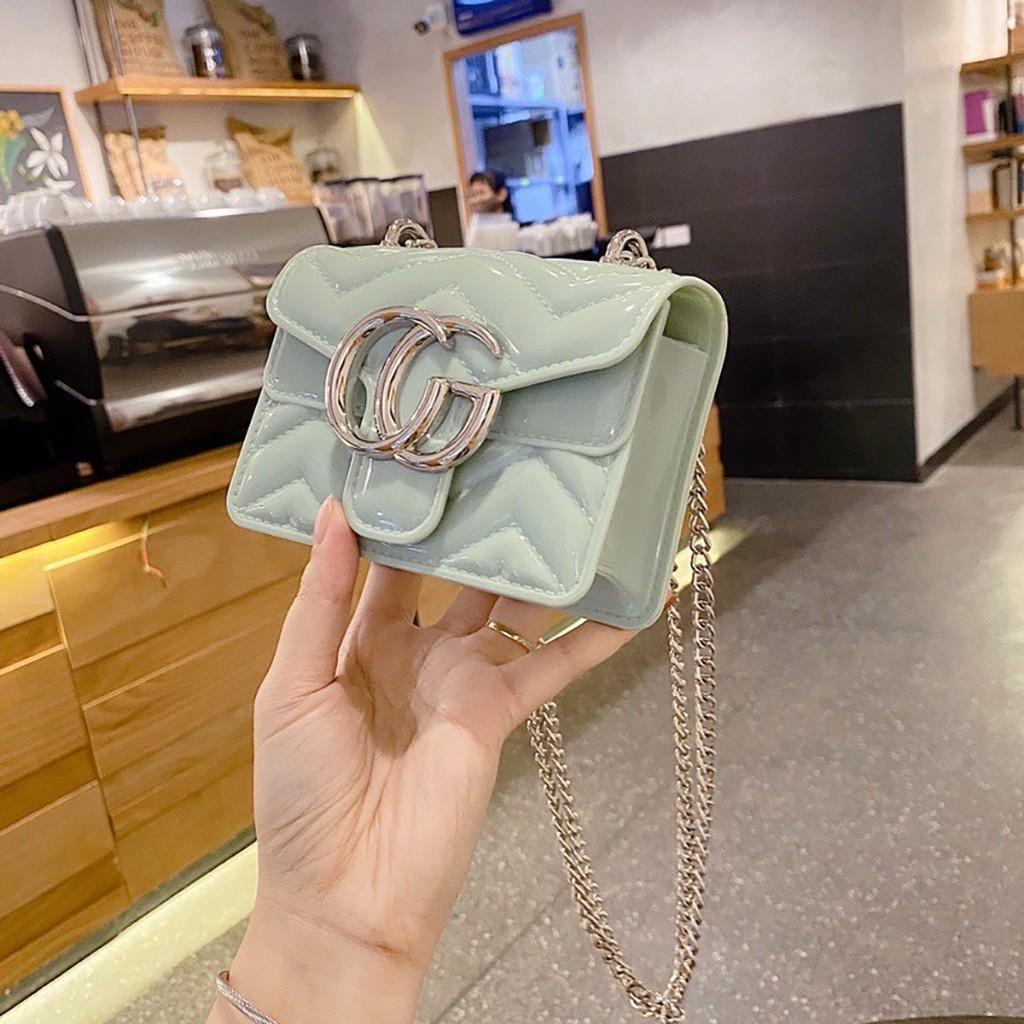 Túi mini đeo chéo nữ silicon đẹp đi chơi cao cấp MN04