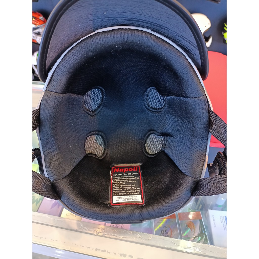 Mũ Bảo Hiểm 1/2 Đầu NAPOLI N088  Trang Free Size ( 52 - 59 cm ) - Bảo Hành 12 Tháng