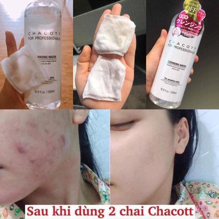 BILL LOTTE DUTY FREE]NƯỚC TẨY TRANG SIÊU LÀNH TÍNH CHACOTT FACE CLEANSING  WATER 500ML | Shopee Việt Nam