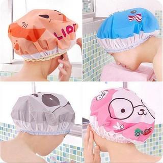 Mũ trùm gọn tóc khi tắm viền chun nhựa PVC đa năng cute thumbnail