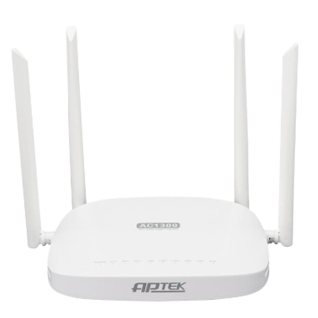 Bộ phát Wifi APTEK A134GHU (AC1300 ) màu trắng
