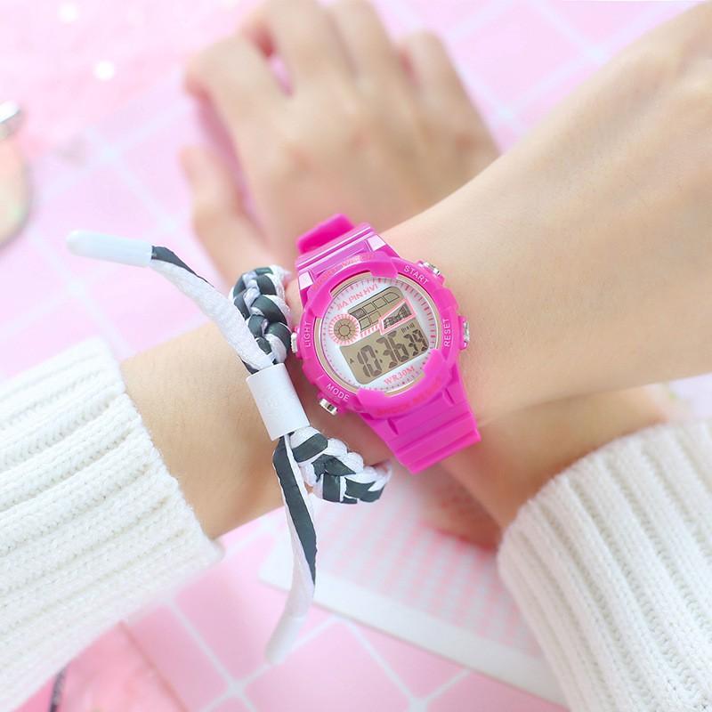 Đồng hồ điện tử nam nữ Shock resist P13 dây cao su êm tay, full chức năng