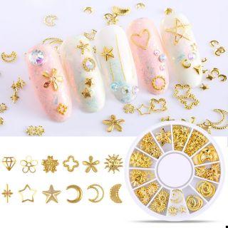 Đinh tán mạ vàng phong cách Nhật Bản – Phụ kiện trang trí Resin