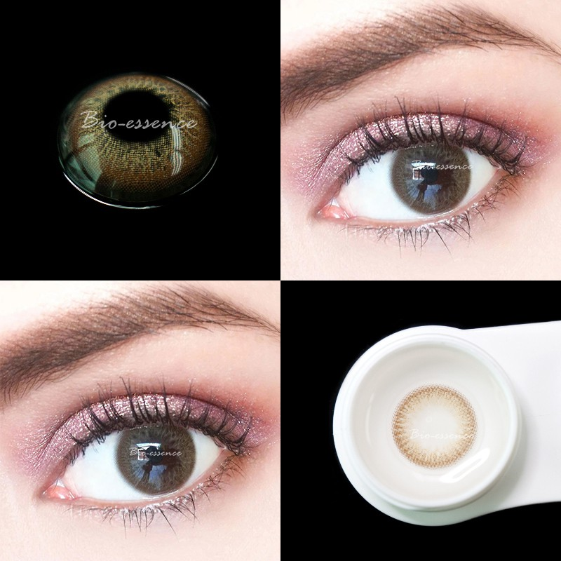 UYAAI 2Pcs/pairs Contact Lenses For Eyes Natural Cosmetics For Eyes Beauty Blue contact lens Rainbow series Iris Brown