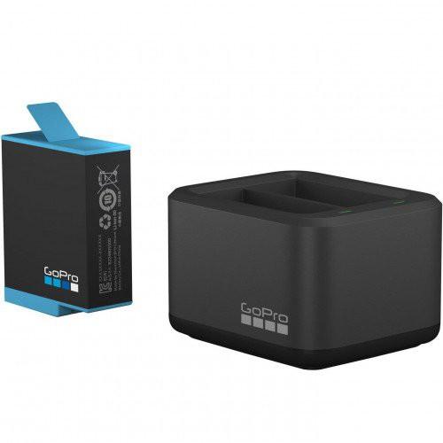 Bộ Dock Sạc Đôi và Pin GoPro Hero 9   Dual Battery Charger + Battery for Gopro 9   Chính Hãng
