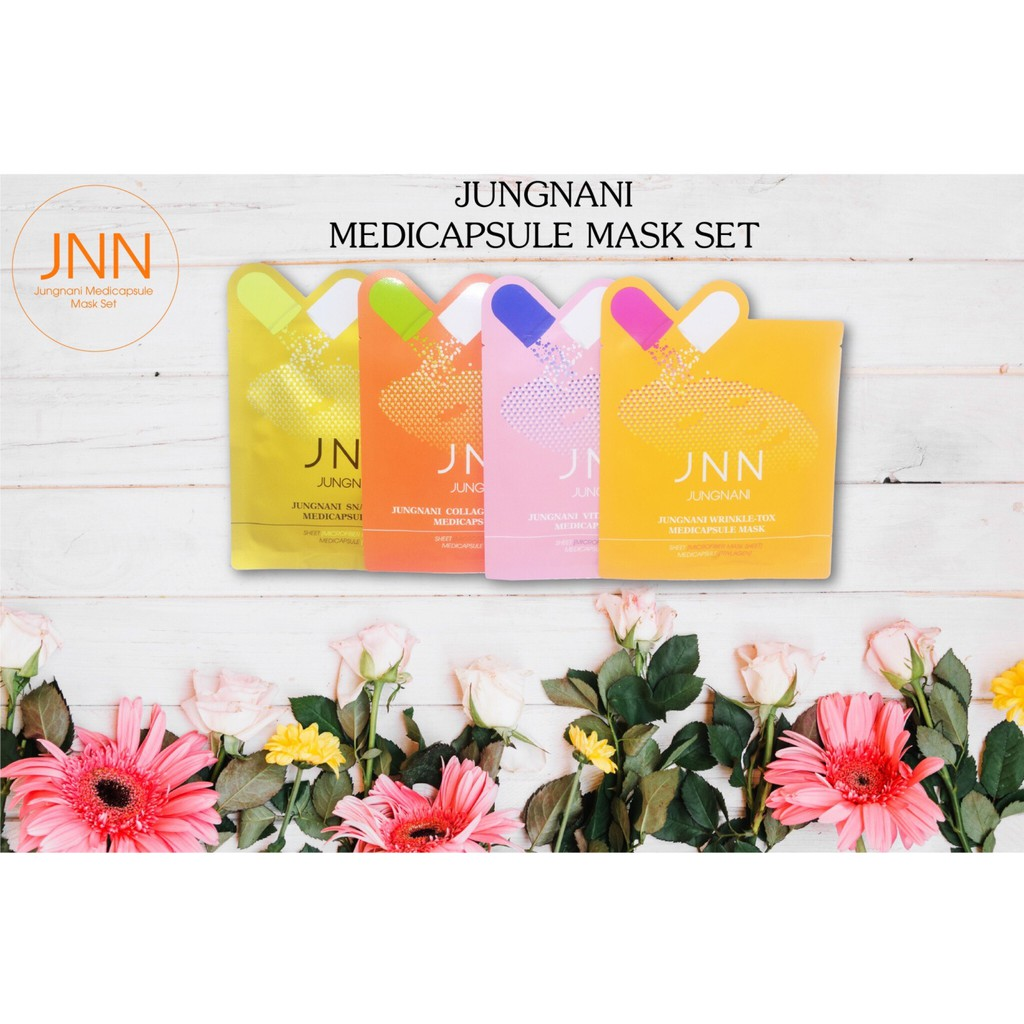Set mặt nạ Medi-Capsule Jungnani(4 miếng) tặng kèm 4 mặt nạ giấy