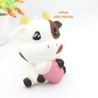 SquiShy bò ôm bình sữa squishy