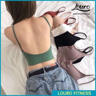 Áo Bra croptop tập gym yoga ẢNH THẬT áo thun tập gym nữ đẹp khoét lưng, có sẵn đệm ngực, co giãn thoải mái - FA85 thumbnail