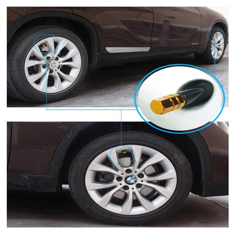 Bộ 4 nắp vặn van bánh xe hơi bằng nhôm