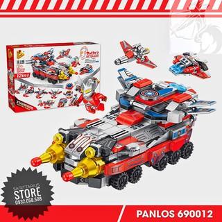 Lego Panlos 690012 Lắp Ráp Chiến Xa Ultraman 12 in 1 – Siêu Nhân Điện Quang ( 551 Mảnh )