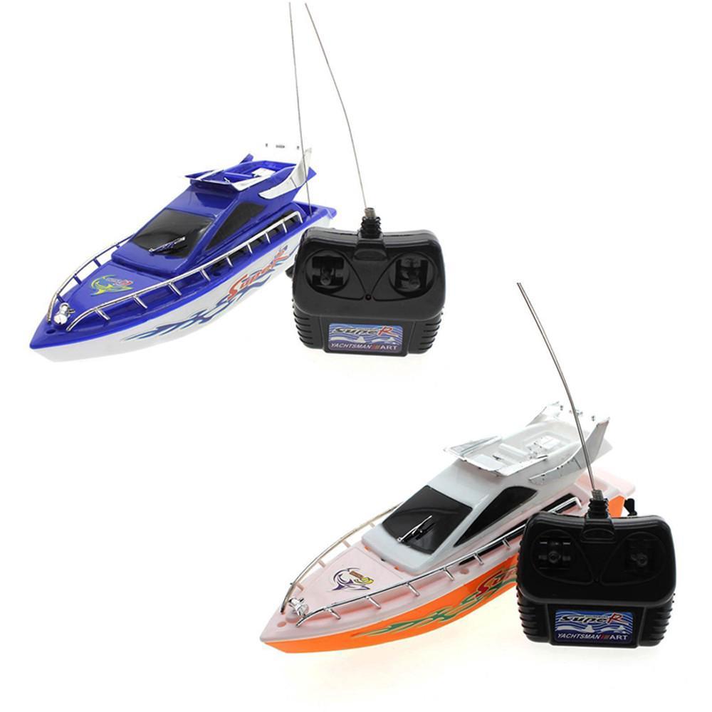 Mainan RC Kapal Elektrik Mini dengan Remote Control untuk Anak Model Toy Random Color