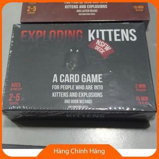 1 bộ bài mèo nổ (ver đỏ hoặc ver đen) 2 bộ nhỏ bên trong ,exploding kitten board game bản đẹp giấy dày 16*11*4
