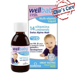 Multi Vitamin WellBaby Liquid bổ sung Vitamin cho bé