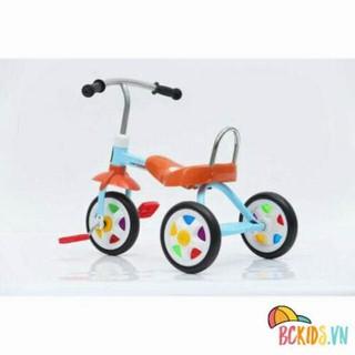 Xe đạp 3 bánh nhiều màu sắc 1012, Xe cút kít đạp chân cho bé giá rẻ, xe vận động trẻ em thumbnail