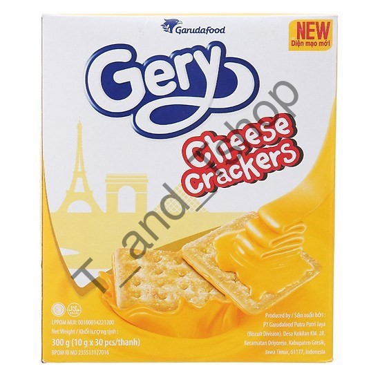 BÁNH QUY PHÔ MAI GERY CHEESE CRACKERS 300G [T_and_Tshop]